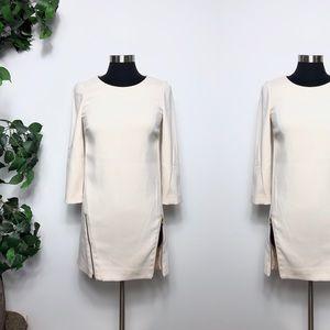 J. Crew Cream Double Zip Shift Dress Size - 0